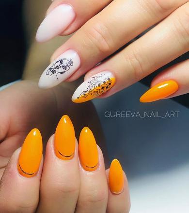 неоновые ногти
