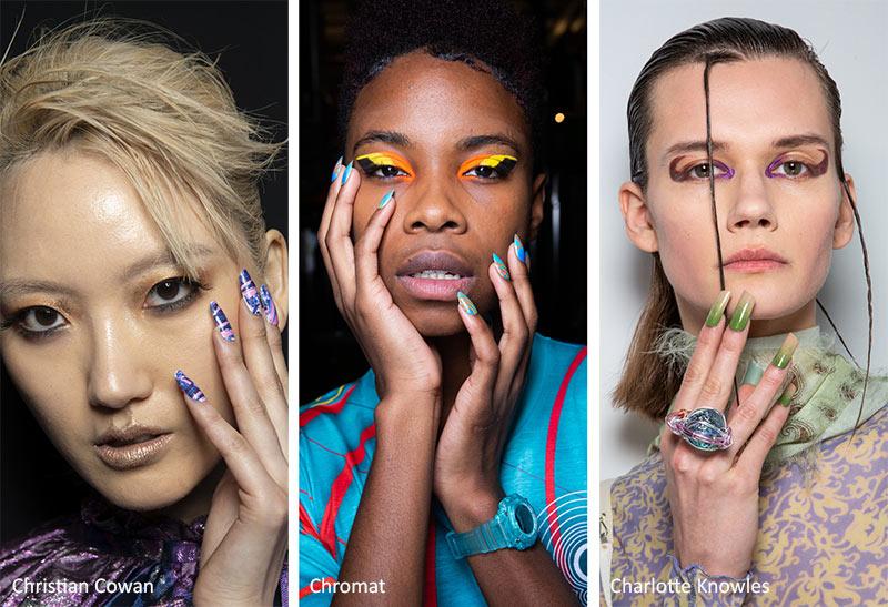 тренды маникюра осень зима 2020 2021 - многоцветные ногти