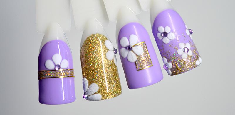 мини весенний дизайн ногтей 2021