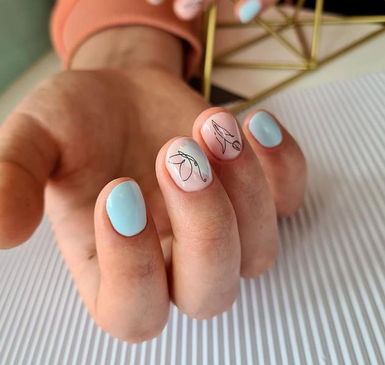 дизайн ногтей весна 2021