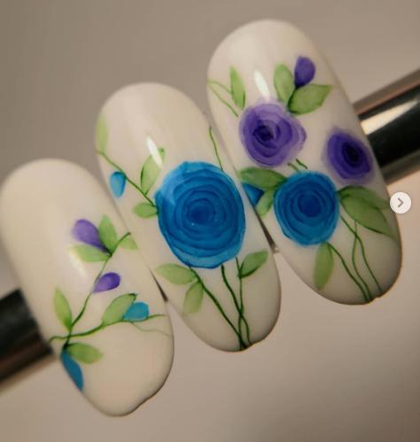 цветы в стиле акварель